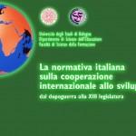 La Normativa Italiana sulla Cooperazione Internazionale allo Sviluppo
