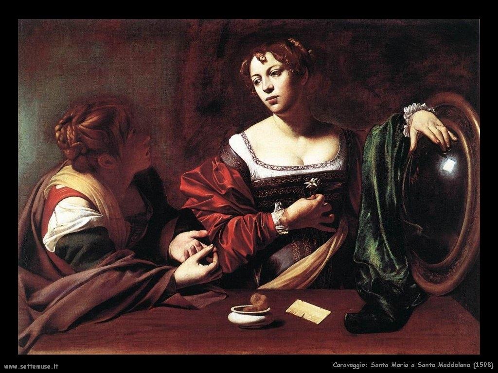 caravaggio marta e maddalena 1598