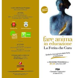 """Seminario """"Fare anima""""  Pisa 23-24-settembre 2017"""