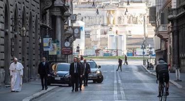 Il pellegrinaggio del papa, dal Manifesto 17-3-2020